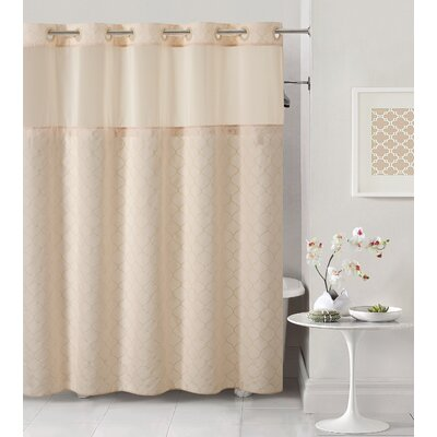 Mosaic Shower Curtain Color: Pale Pink