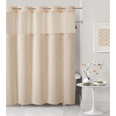 Mosaic Shower Curtain Color: Pale Pink