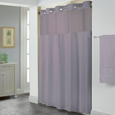 Herringbone Shower Curtain Color: Purple