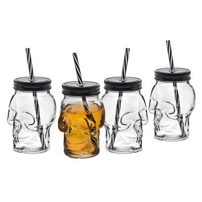 Skull 16 oz. Glass Sippy Cup THDA2727 42173637