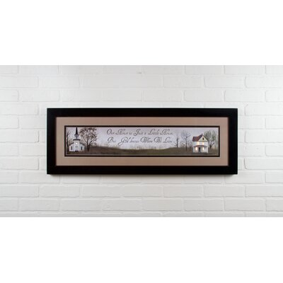 Lighted Matted God Knows by Billy Jacobs Framed Graphic Art 72275