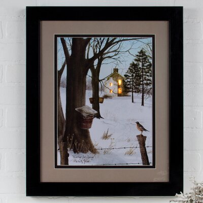 Lighted Matted Waiting for Spring by Billy Jacobs Framed Photographic Print 72284