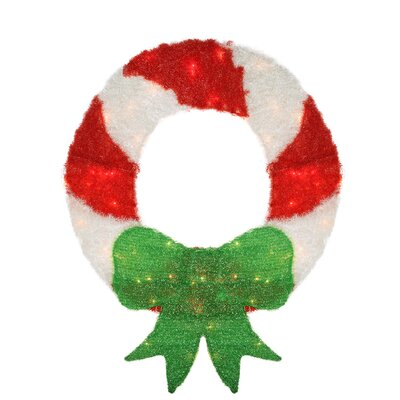 Candy Cane Stripe Wreath Christmas Decoration