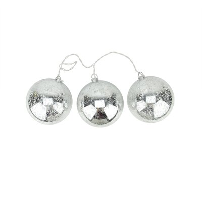 Lighted Mercury Ball Christmas Ornament Color: Silver