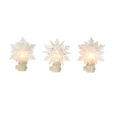Icy Crystal 3 Piece Decorative Snowflake Christmas Night Light Set