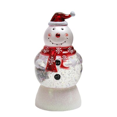 Changing Snowman with Santa Hat Snow Globe Christmas Figure