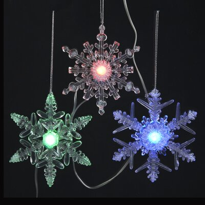 20 Battery Operated Musical Twinkle LED Snowflake Christmas Lights