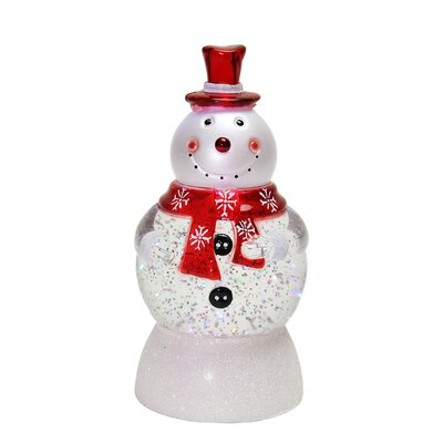 LED Lighted Color-Changing Snowman with Top Hap Snow Globe Christmas Figure