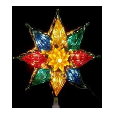 Crystal 8-Point Star Christmas Tree Topper