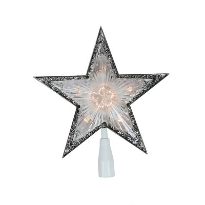 Lighted Crystal Star Christmas Tree Topper Color: Clear and Silver
