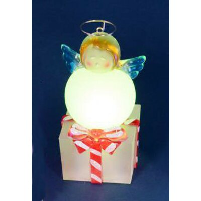 LED Lighted Color-Changing Angel on Present Table Top Christmas Decoration