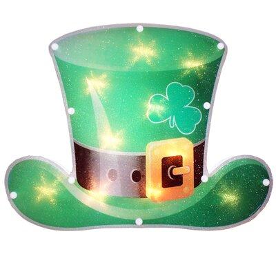 Lighted Leprechaun Hat Window Decoration 5240Y111
