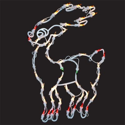Lighted Reindeer Window Decoration X89641