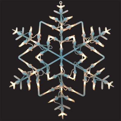 Lighted Snowflake Window Decoration X89653