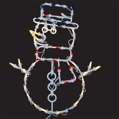 Lighted Snowman Window Decoration X89655