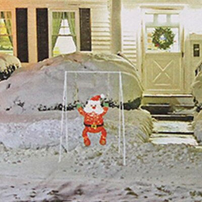 Swinging Baby Santa Claus Lighted Christmas Decoration