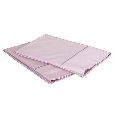 1000 Thread Count Luxury Cotton Sateen Pillowcase Set Size: Standard / Queen, Color: Blush