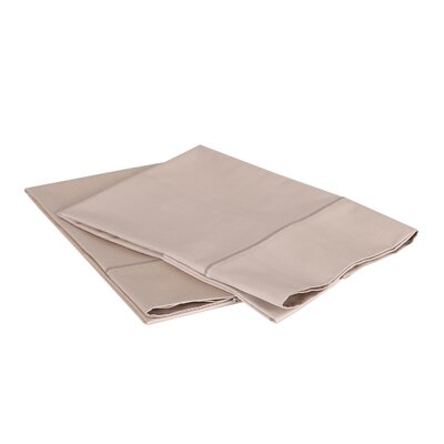 1000 Thread Count Luxury Cotton Sateen Pillowcase Set Size: Standard / Queen, Color: Linen