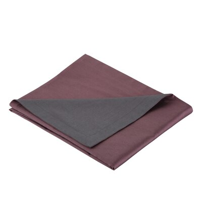 300 Thread Count Cotton Sateen Reversible Sham Color: Plum / Gray