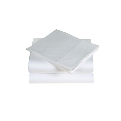 300 Thread Count Cotton Sateen Sheet Set Size: Queen, Color: White