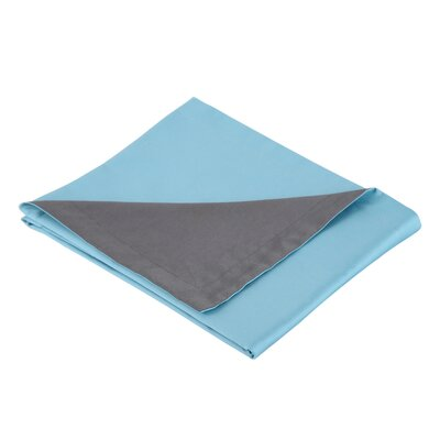 300 Thread Count Cotton Sateen Reversible Sham Color: Turquoise / Gray