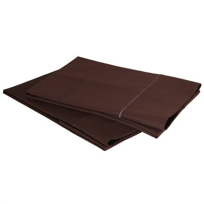 1000 Thread Count Luxury Cotton Sateen Pillowcase Set Size: Standard / Queen, Color: Sable