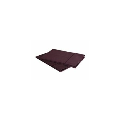 1000 Thread Count Luxury Cotton Sateen Pillowcase Set Size: King, Color: Plum