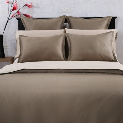 3 Piece Duvet Set Size: Full / Queen, Color: Mocha