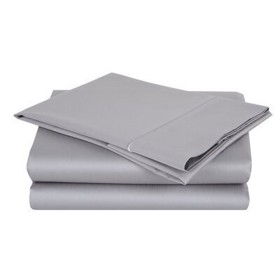 1000 Thread Count Cotton Sateen Sheet Set Color: Delorean Gray, Size: Full