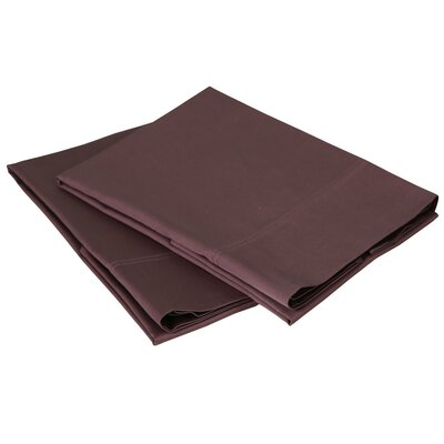 300 Thread Count Cotton Sateen Pillowcase Set Size: Standard / Queen, Color: Plum