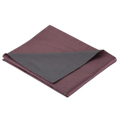 3 Piece Reversible Duvet Set Color: Plum / Gray, Size: Full / Queen