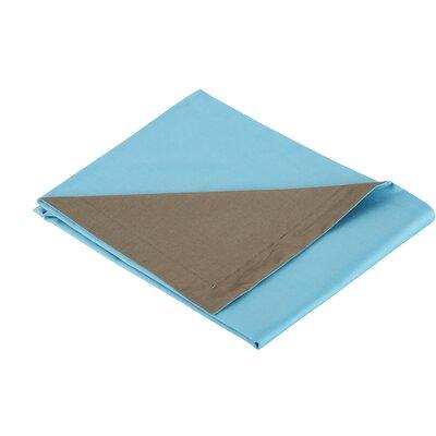 3 Piece Reversible Duvet Set Color: Turquoise / Mocha, Size: Full / Queen