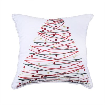 Holiday Embroidered Throw Pillow Color: Christmas Tree
