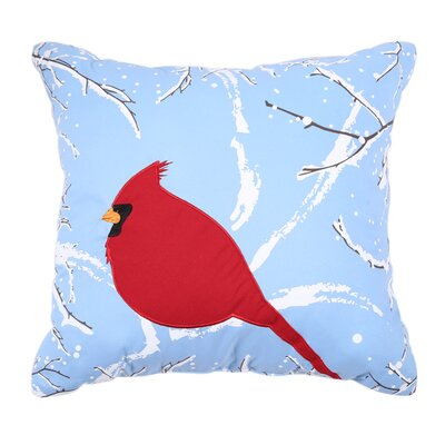 Holiday Embroidered Throw Pillow Color: Cardinal