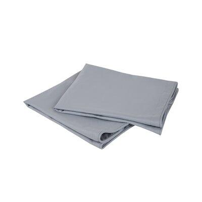 Luxury Embossed Microfiber Euro Sham Color: Silver Gray