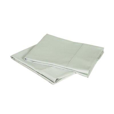 600 Thread Count Premium Cotton Sateen Pillowcase Set Size: King, Color: Sage