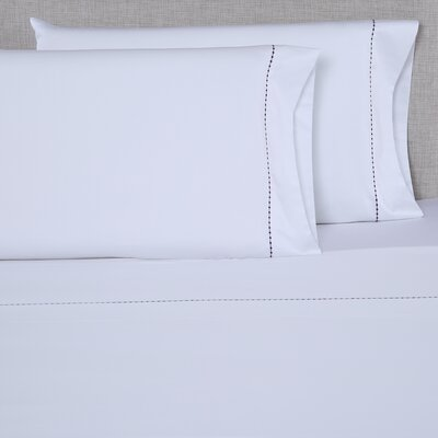 600 Thread Count Cotton Sheet Set Size: Queen, Color: White/Eggplant