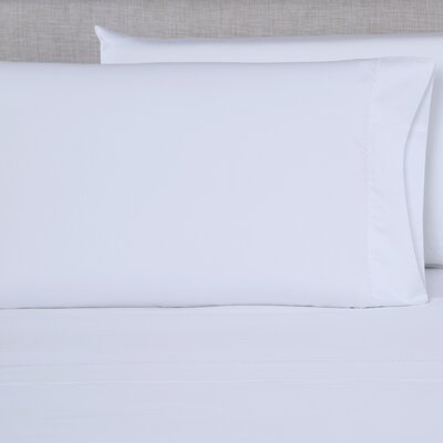 600 Thread Count Embroidered Pillowcase Size: King, Color: White/White