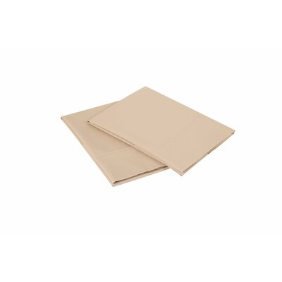 300 Thread Count Pillowcase Size: Queen, Color: Taupe