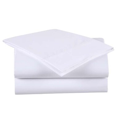 600 Thread Count Cotton Sheet Set Size: Queen, Color: White/White