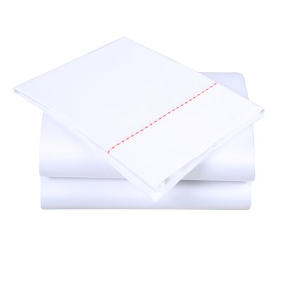 600 Thread Count Cotton Sheet Set Color: White/Desert Rose, Size: King