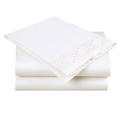 600 Thread Count Cotton Sheet Set Size: Queen, Color: Ivory/Ivory