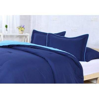 Reversible Comforter Set Size: Twin/Twin XL, Color: Navy/Bright Blue
