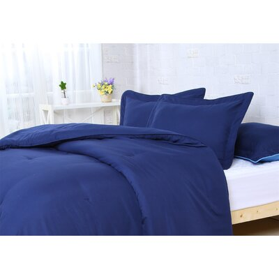 Comforter Set Size: Full/Queen, Color: Navy