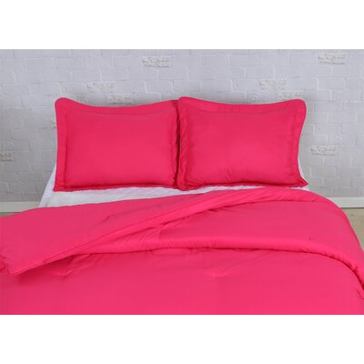 Comforter Set Size: Full/Queen, Color: Pink