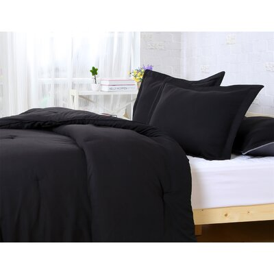 Comforter Set Size: Twin/Twin XL, Color: Black