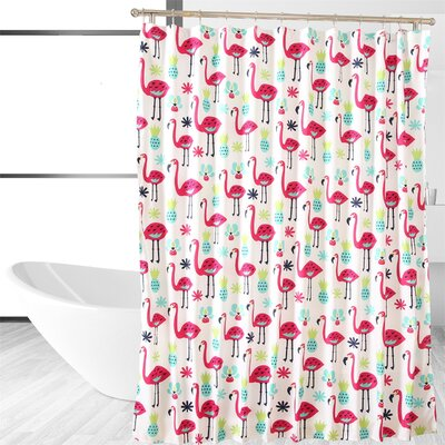 Fancy Flamingo Shower Curtain