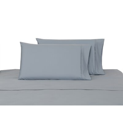 100% Cotton Sateen Pillow Case Color: Dusty Blue, Size: King