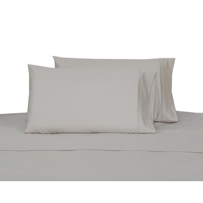 100% Cotton Sateen Pillow Case Color: Stone, Size: King