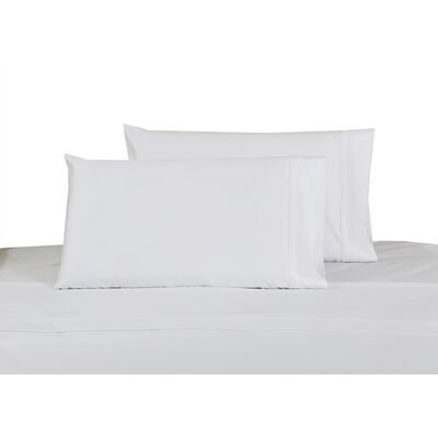 100% Cotton Sateen Pillow Case Color: White, Size: King